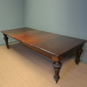 Huge Victorian Characterful Walnut Antique Extending Dining Table
