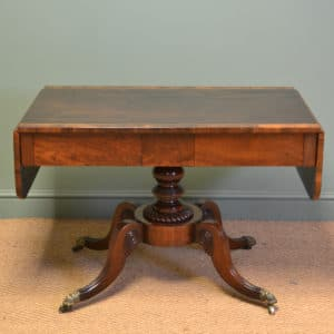 Regency Mahogany Cross Banded Antique Sofa Table