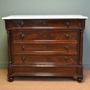 Striking Quality Large French Rosewood Antique Victorian Chest Of Drawers