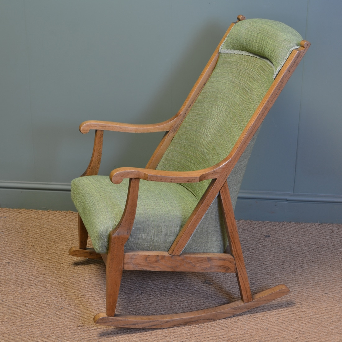 ... Unusual Pair Of Arts And Crafts Antique Oak Rocking Chairs ...