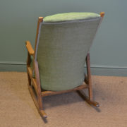 Unusual Pair of Arts And Crafts Antique Oak Rocking Chairs