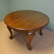Huge Quality Edwardian Walnut Gillows Extending Antique Dining Table