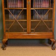 Large Quality Victorian Walnut Astragal Glazed Antique Bookcase