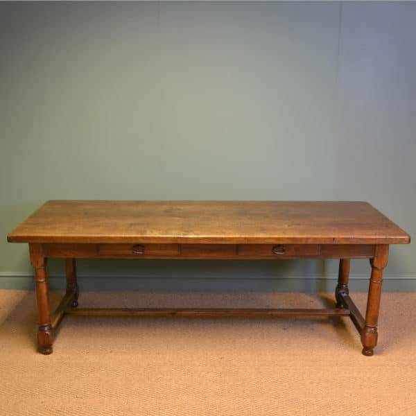 Huge Solid Oak French Victorian Antique Refectory Table