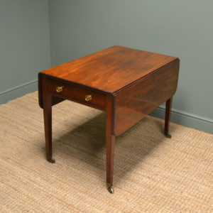 Quality George III Solid Mahogany Antique Drop Leaf Table