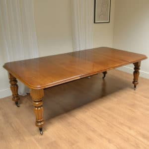 Large Walnut Extending Antique Wind Out Victorian Dining Table