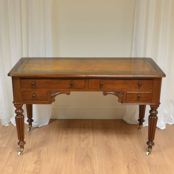 Elegant Victorian Mahogany Antique Writing Table