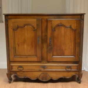 Large French Walnut Georgian Antique Cupboard
