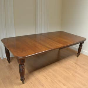 Superb Quality Victorian Walnut Extending, Wind-out Antique Dining Table