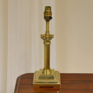 Small Vintage Corinthian Column Brass Lamp