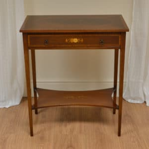 Fine Decorative Inlaid Mahogany Edwardian Antique Side Table