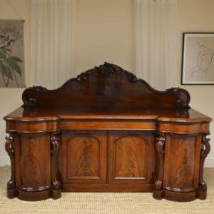 Spectacular Quality Huge Victorian Mahogany Antique Sideboard