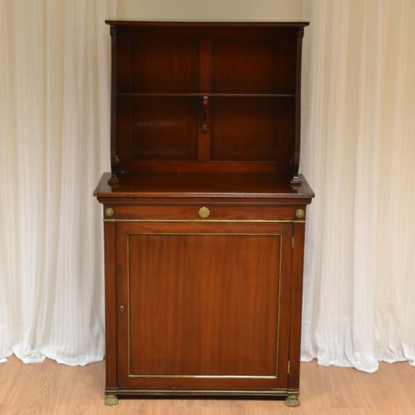 Spectacular Regency Mahogany Antique Chiffonier with Decorative Brass