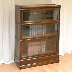 Spectacular Edwardian Oak Antique Globe Wernicke Bookcase