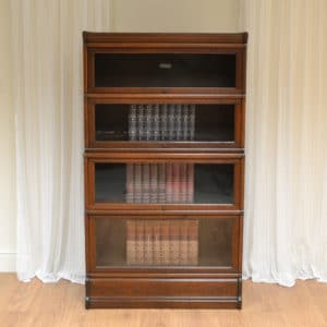 Spectacular Tall Edwardian Oak Antique Globe Wernicke Bookcase
