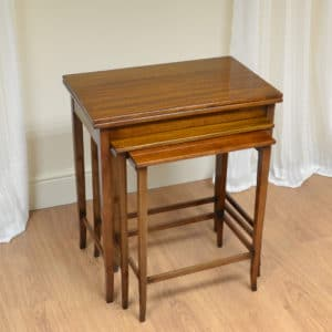 Unusual Art Deco Gillows Antique Nest Of Tables