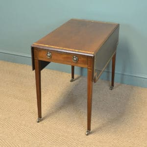 Striking Victorian Mahogany Antique Drop Leaf Table