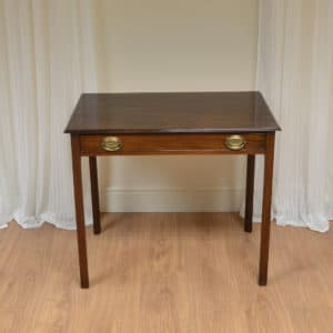 George III Figured Mahogany Antique Side Table