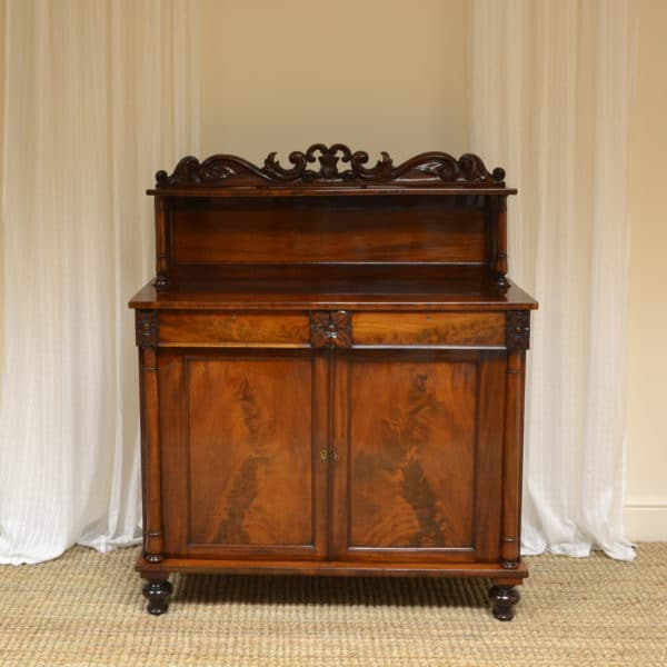 Magnificent Quality Figured Mahogany William IV Antique Chiffonier