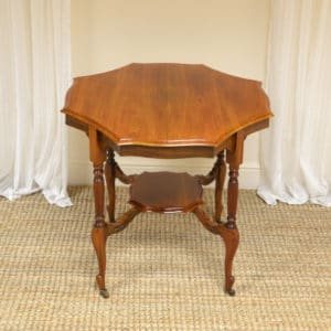 Spectacular Quality Edwardian Walnut Antique Centre Table / Occasional Table