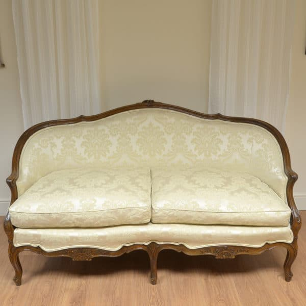 Stunning Quality Victorian Oak Upholstered Antique Settee