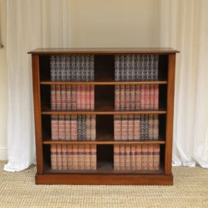 Victorian Mahogany Antique Open Bookcase