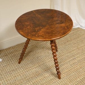 Unusual Figured Antique Walnut Victorian Low Occasional Table
