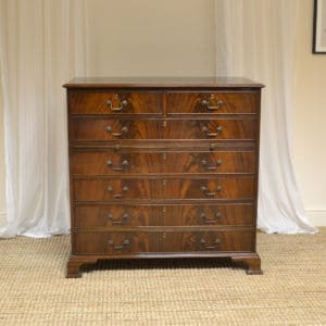 High Quality Edwardian Flamed Mahogany Antique Chest Of Drawers