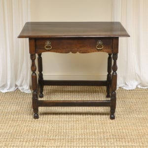 Eighteenth Century Period Oak Antique Low Boy / Side Table