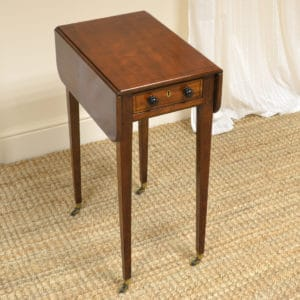 Unique Small Regency Mahogany Antique Baby Pembroke Table