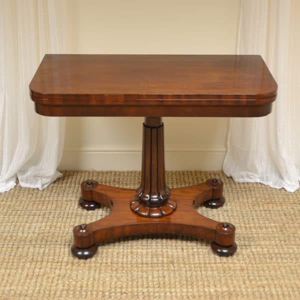 Fine Quality Regency Mahogany Antique Games Table