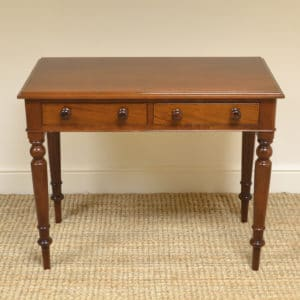 Fine Quality Victorian Mahogany Antique Side Table / Writing Table