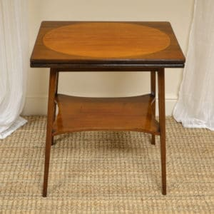 High Quality Edwardian Inlaid Antique Card Table