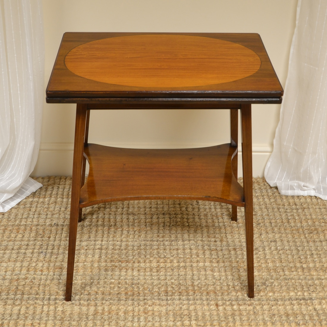 High Quality Edwardian Inlaid Antique Card Table Antiques World