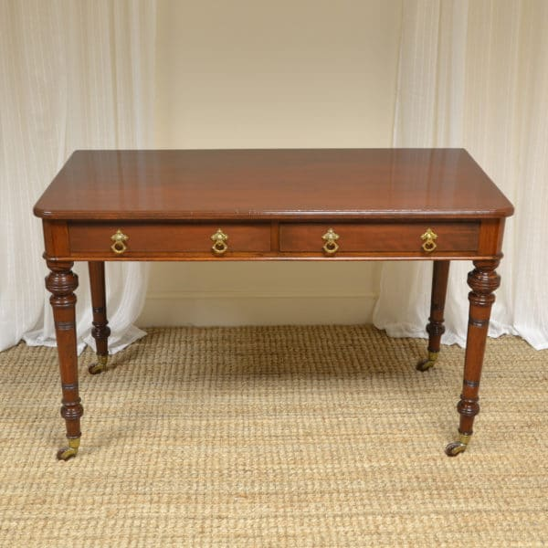 Quality Heal & Son Victorian Mahogany Side / Writing Table