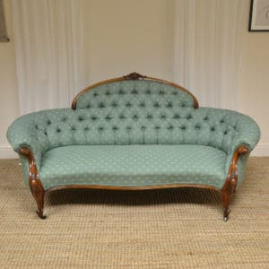 Exquisite Quality Victorian Walnut Antique Settee / Sofa
