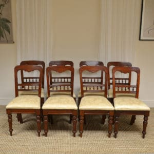 Set of 8 Victorian Mahogany Antique Dining Chairs