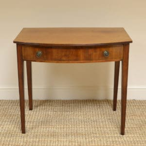 Country House Regency Bow Fronted Antique Side Table