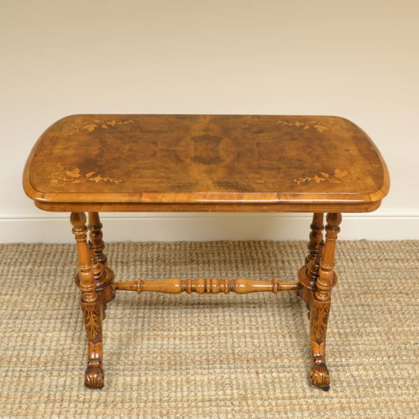 Beautiful Inlaid Walnut Antique Victorian Side / Occasional Table
