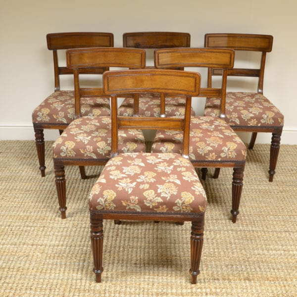 Set of Six Georgian Mahogany Antique Dining Chairs