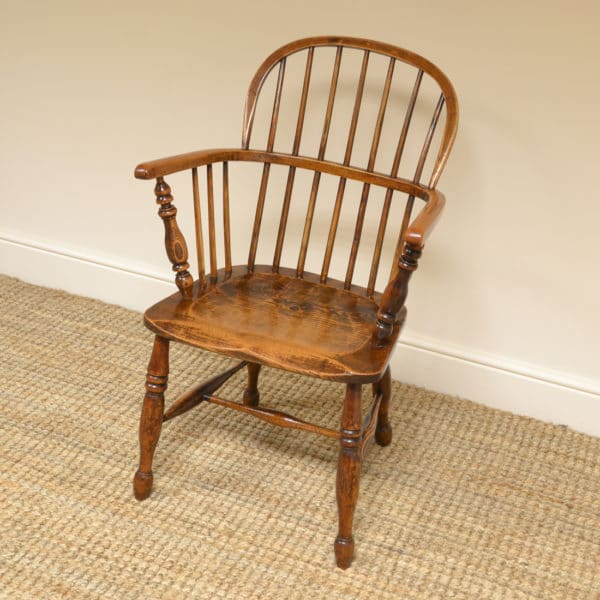 Antique Oak and Elm Georgian Windsor Chair
