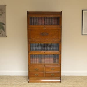 Tall Oak Barristers Stacking Bookcase