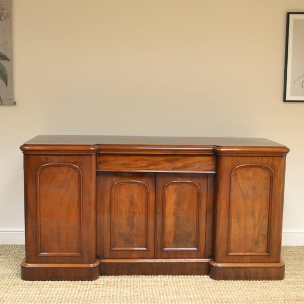 Victorian Figured Mahogany 4 Door Antique Sideboard