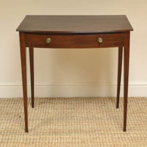 Regency Bow fronted Antique Side Table