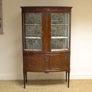Edwardian Walnut Decorative Antique Display Cabinet
