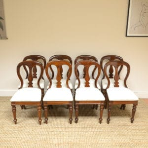 Set of 8 Victorian Mahogany Antique Dining Chairs - J Reilly