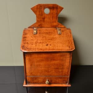 Edwardian Oak Antique Salt Box