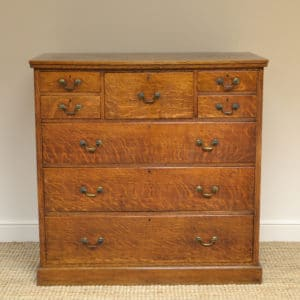 Large Victorian Oak Antique Chest of Drawers