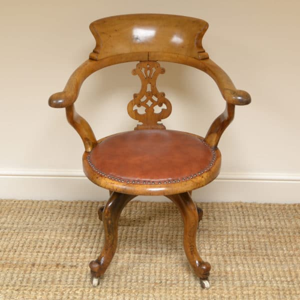 Country House Victorian Swivel Antique Desk Chair