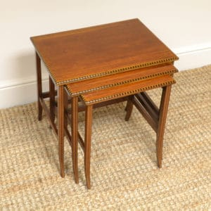 Edwardian Inlaid Antique Nest of Tables